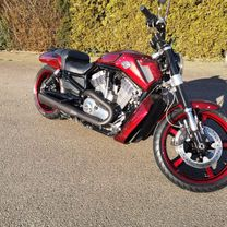 Harley Davidson Muscle gold scallops red candy marble 23