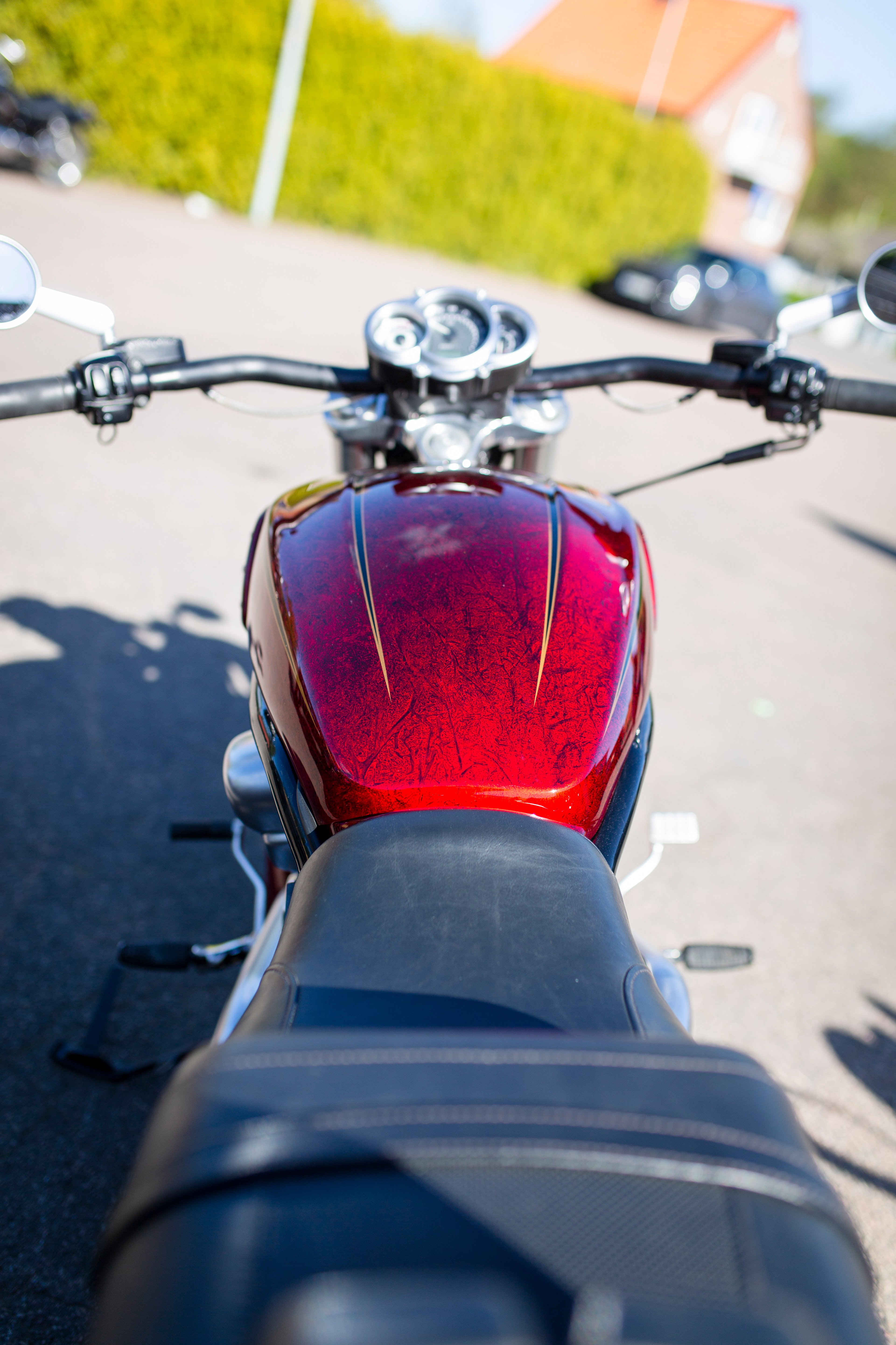 Harley Davidson Muscle gold scallops red candy marble 31