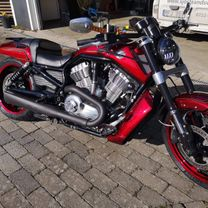 Harley Davidson Muscle gold scallops red candy marble front 3