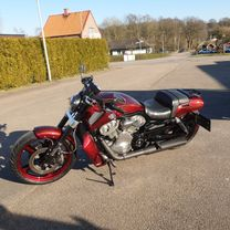 Harley Davidson Muscle gold scallops red candy marble front 6