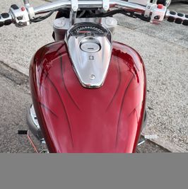 Suzuki Intruder m1800r red candy ghost classic flames 11