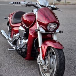 Suzuki Intruder m1800r red candy ghost classic flames 4
